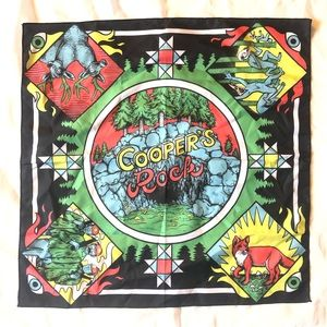 Awesome trippy bandanna. Cooper's rock